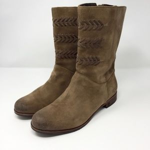 UGG Suede Leather Mid Calf Booties Size 9